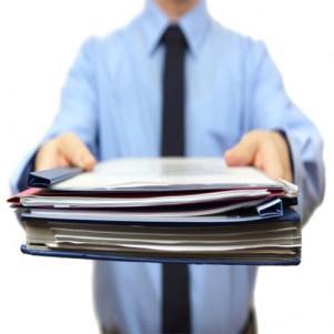 Распечатка текстовых документов (на бумаге заказчика)