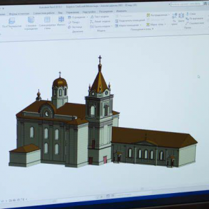 3D modeling and printing. Creating 3D videos of destroyed or lost buildings