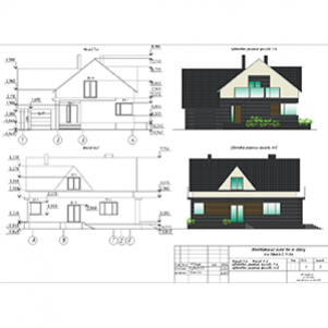 Development of architectural and planning solutions for individual residential houses, cottages