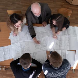 Organization of the internal space of premises taking into account ergonomics