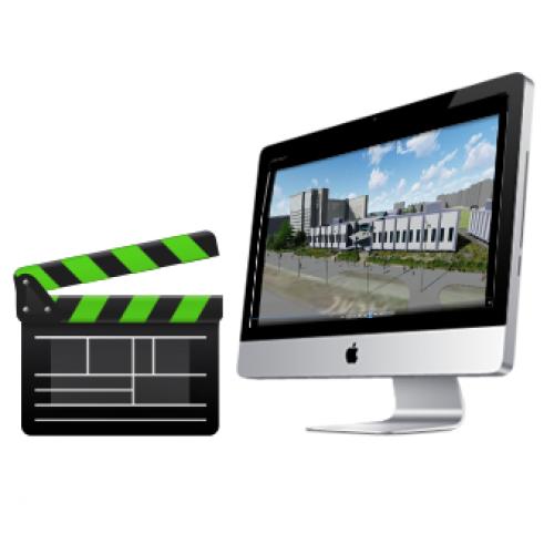 Создание видеороликов проектируемых зданий