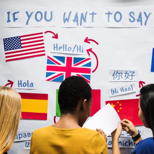 English language learning courses