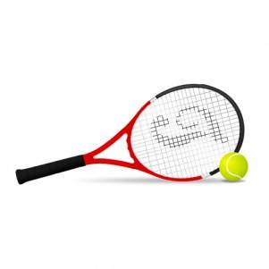 Big tennis in athletic arena