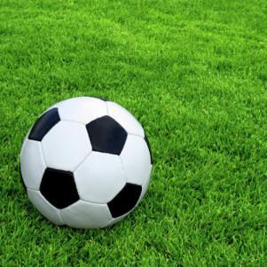 Organization of mini-football match on natural grass football field