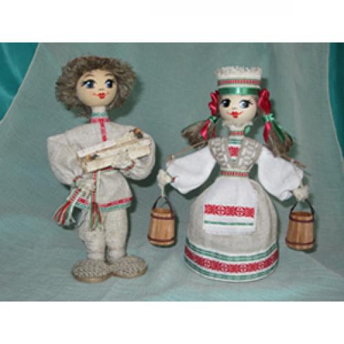 """Куклы """"Михась и Алеся"""""""